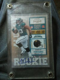 Rookie football player trading card Fulton, 95439