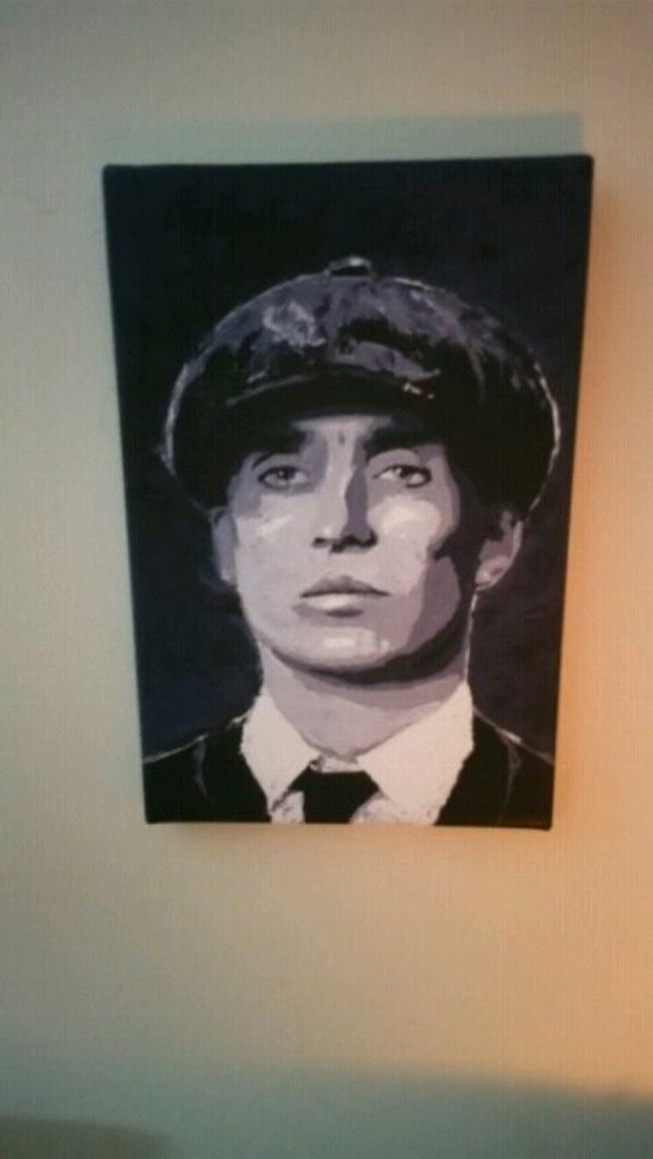 Peaky Blinder Tom Shelby A4 Canvas Print