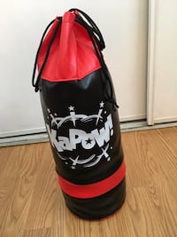 Black and red kapow heavy bag