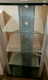 gray metal framed glass-top TV stand El Paso, 79907