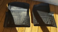 two black WeatherTech floor liners Statham, 30666