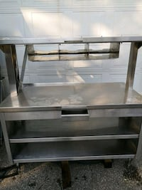 Stainless steel prep area counter table Mississauga, L5A 2X4