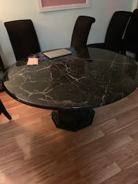 Slate dining room set with 6 chairs