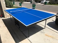 Blue and white wooden ping pong table Pflugerville, 78660