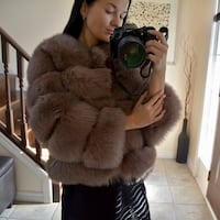 Fox fur coat size S (0-6) 542 km