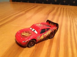 Disney Cars and Cars 2 Lightning McQueen die cast cars