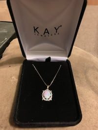 silver-colored Kay Jewelers pendant necklace with box Virginia Beach, 23453