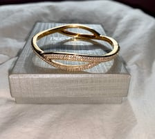 NEW People's Jewellers Gold Plated White Sapphire Bracelet