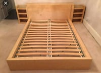 brown and white wooden bed frame Brampton, L6T 2E8