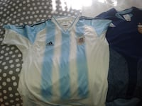 Adidas ORIGINAL   blue and white striped  AFA  GOLD EMBLEM  MONTREAL