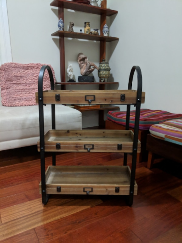 promo code 44a67 f899d Country Kitchen Rustic 3-Tier Shelving Unit