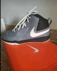 Grey and White Basketball shoes SIZE 3