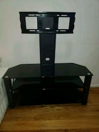 black glass top TV stand with mount 367 km