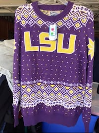 "LSU ""ugly"" sweater (Women's XL) NWT (perfect Christ gift) Slidell, 70461"