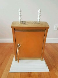 brown wooden side table with drawer Surrey, V4N 3A2
