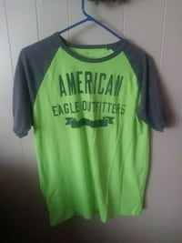 green and black American Eagle Outfitters crew-neck shirt