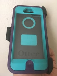 otterbox iphone 5 / 5S / SE Teal and purple case