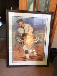 Brown wooden framed painting of man and woman Chesapeake, 23322