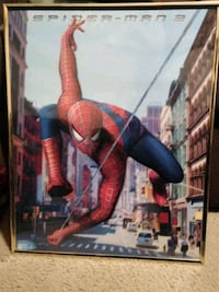 Spiderman Wall Decor Excellent Condition 10$