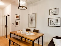 Custom made barnboard, reclaimed wood and handmade table with bench Toronto