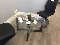 Brand New-Glass Top+Solid Wooden Leg Coffee Table Vancouver