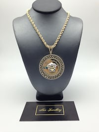 """10k gold 32"""" rope chain with Versace style pendant  Toronto, M6G"""
