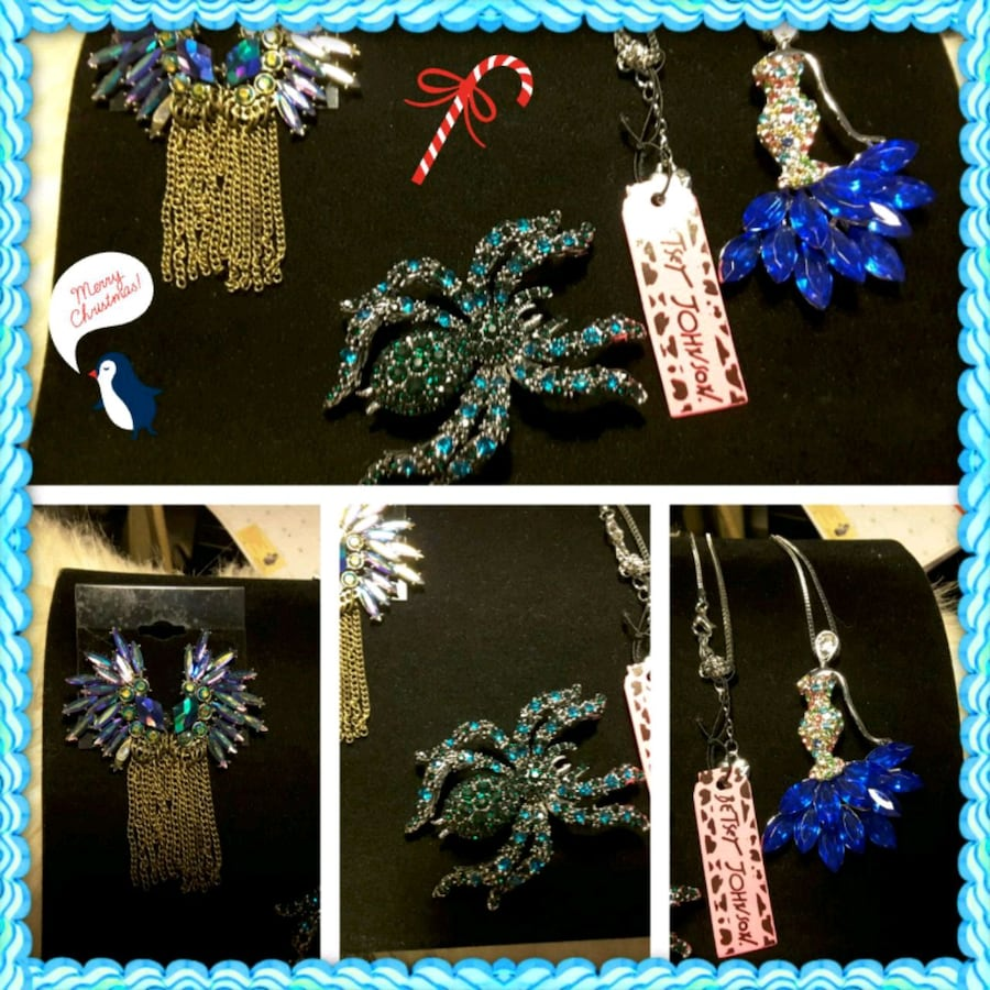 Earrings, Necklace & Pendent-Broche