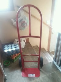red and black metal bed frame