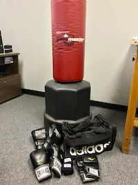 New everlast boxing gloves and punchbag