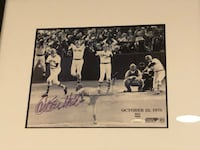 Carlton Fisk autographed photo of the homer  McLean, 22102
