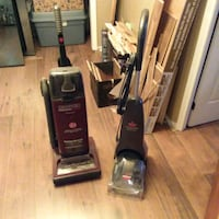 black and gray upright vacuum cleaner Montreal, H1M 3N2