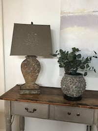 Pair of Beautiful Stone Lamps with Linen Shades Jacksonville, 32210