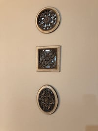 Three wall decor mirrors. Perfect shape. Each one is 7-8 inches.  Eugene, 97404