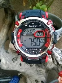 round black and red digital watch Placentia, 92870