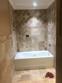 Tile and wood flooring install