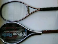 Wilson and Yonex tennis rackets