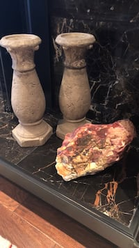 Two stone candle holders and a sacred native Indian stone from sedona Oakville, L6J 6H8