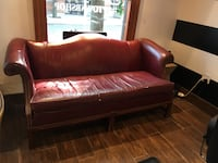 red leather 2-seat sofa Windsor, N9B 0A3