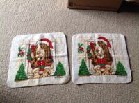 2 New Christmas Basset hound Facecloths Brantford, N3R 0A1