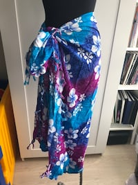 Multi-coloured sarong O/S