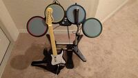 black electric drum set and electric guitar game controller Beverly Hills, 34465