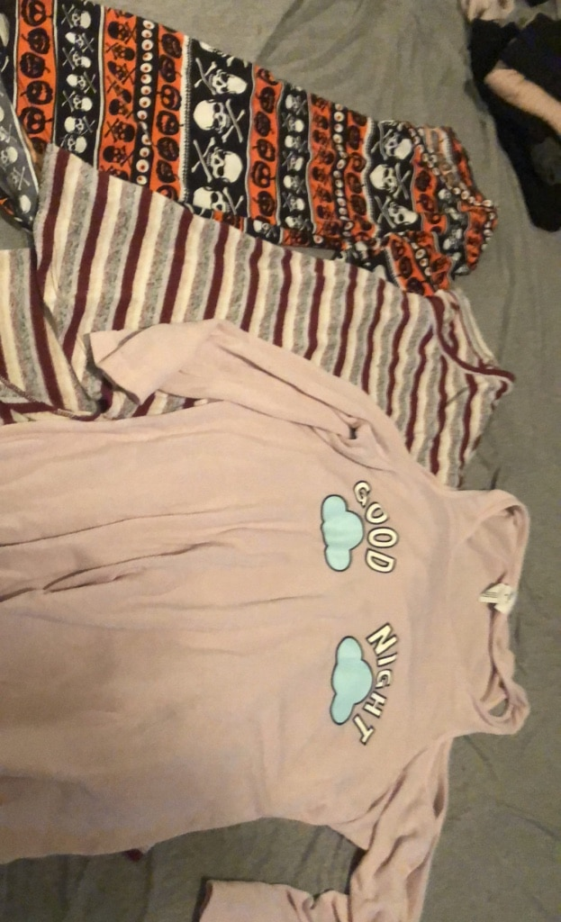Photo Assorted long sleeves. $4 each or all three for $10. All small sizes.