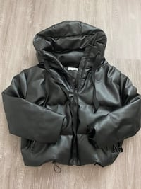 Puffer winter jacket leather Даллас, 75240
