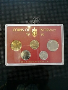 Coins of Norway 1996.