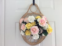Sweet grass hanging basket—includes artificial roses Gettysburg, 17325