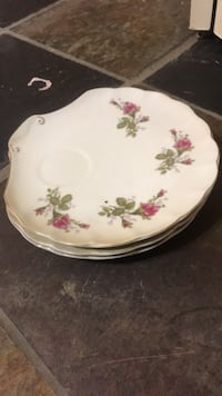 white and pink floral ceramic plate Virginia Beach, 23456
