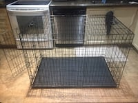 Extra large dog cage with two doors and a divider. 30W 48L 32H