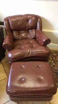 Leather chair and automan