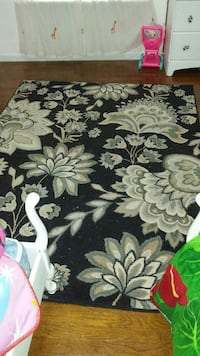 black and white floral area rug Saint Louis, 63116