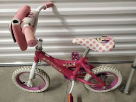 Minnie mouse bike bicycle with training wheels